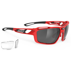 Rudy Project Sintryx Lunettes, fire red gloss/smoke black/transparent